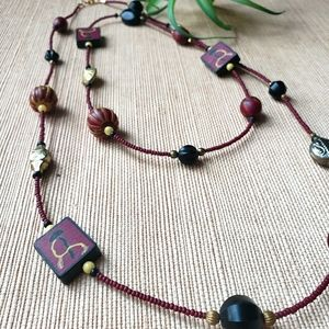 Vintage Polymer Bead Necklace